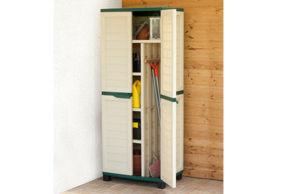 Storage Utility Cabinet With Side Compartment For Garage