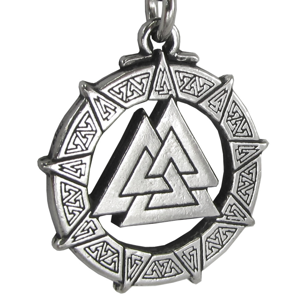 Valknut warriors knot valkyrie viking pendant necklace ebay aloadofball Image collections