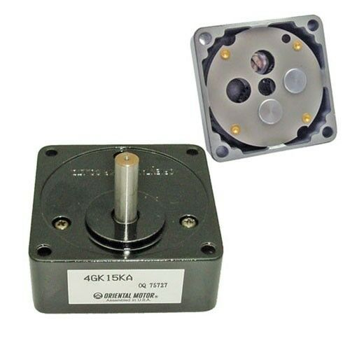 gear reduction for oriental motor stepper 4gk15ka