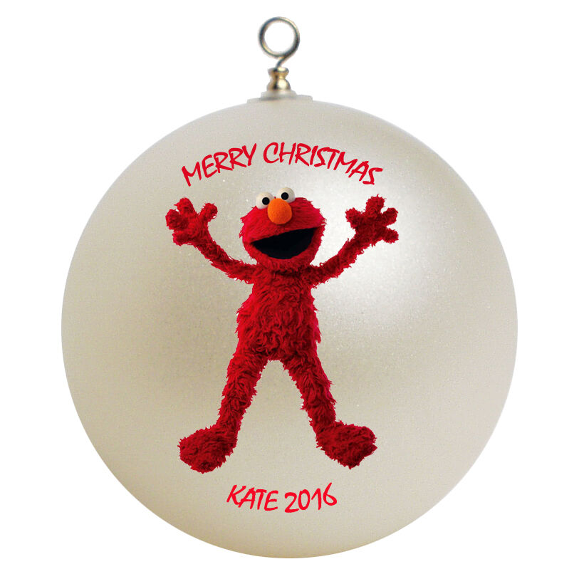 Personalized sesame street elmo christmas ornament ebay for Personalized christmas photo ornaments