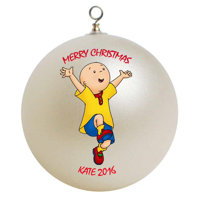 Personalized caillou christmas ornament add your name ebay List of christmas ornaments