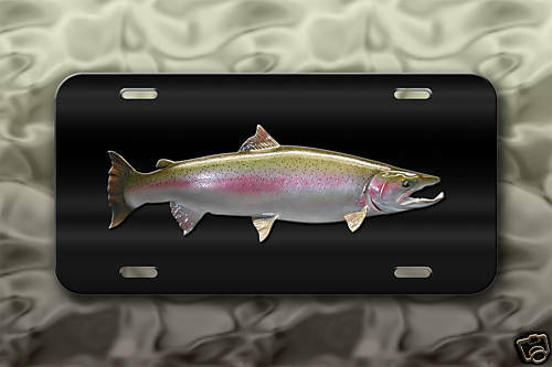 Truck Stickers For Back Window >> Steelhead salmon license plate trout fishing | eBay