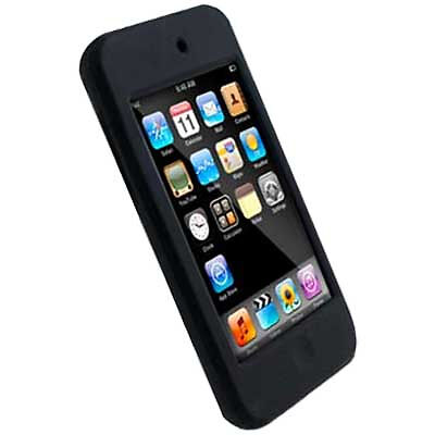 ipod touch 2g black silicone protective case cover ebay. Black Bedroom Furniture Sets. Home Design Ideas