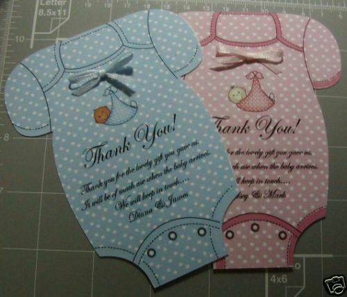 BABY SHOWER THANK YOU CARDS /INVITATION CARDS BOY/GIRL