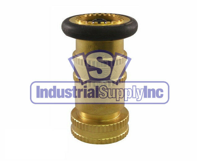 Quot nst brass adjustable fire hose nozzle w bumper made