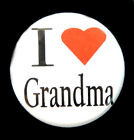 "I LOVE GRANDMA - Novelty Button Pin Badge 1"" Heart"