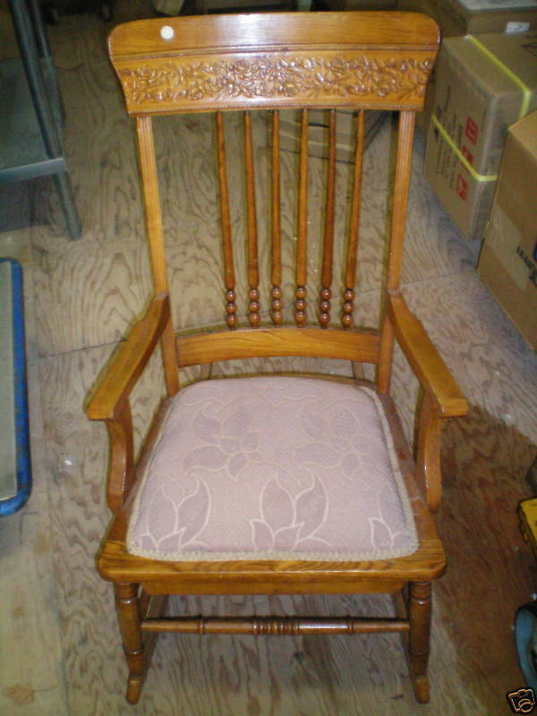 Antique Rocking Chair Detailed Carving Low Price  eBay