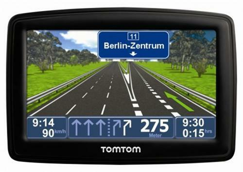 black tomtom navi europa xl gps radar navigation ebay. Black Bedroom Furniture Sets. Home Design Ideas