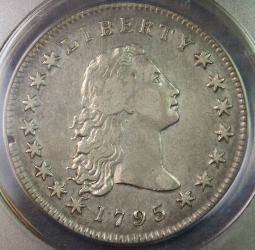 1795 Flowing Hair Silver Dollar 1 Coin Anacs Ef 40 Xf