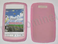 Silicone Case For Blackberry 9550 9520 Storm 2 Pink UK