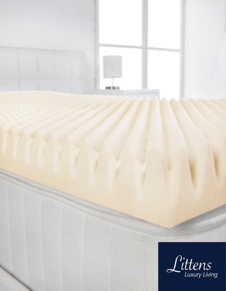 2 Quot Deep Memory Foam Mattress Topper Profile Egg Shell