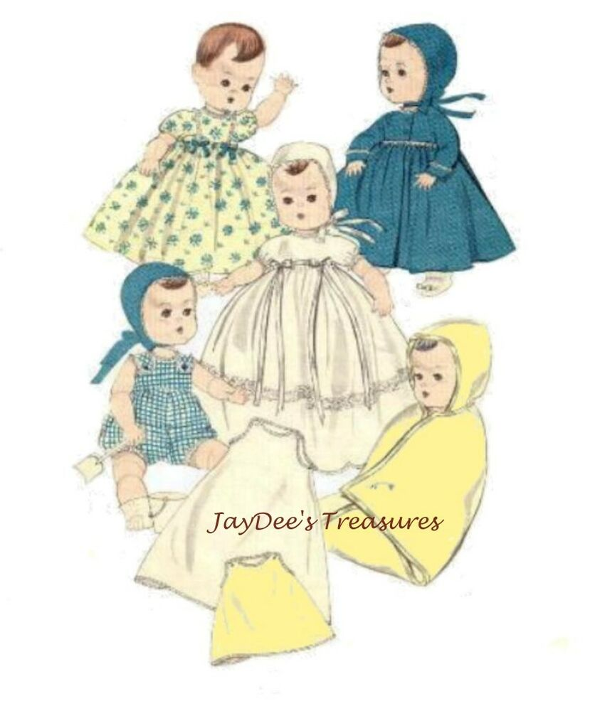 7970 Vintage Doll Clothes Pattern 11 5 Inch Baby Doll Ebay