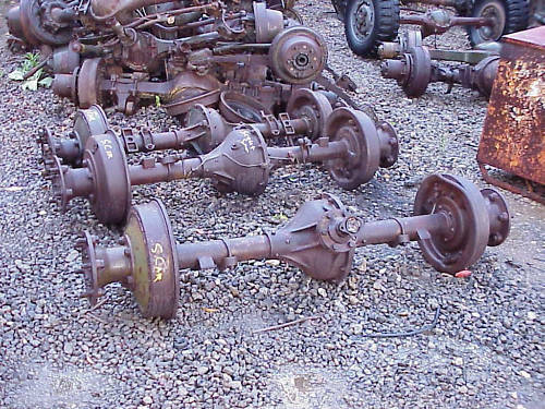 Car Axle Assembly : White m a g military scout car rear axle assembly ebay