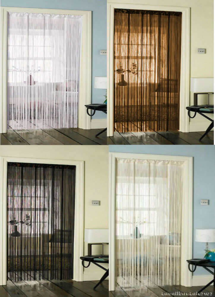 Free Shipping Multi Color Door Window Panels String: Solid Strings Door Curtain Curtains Red Black White