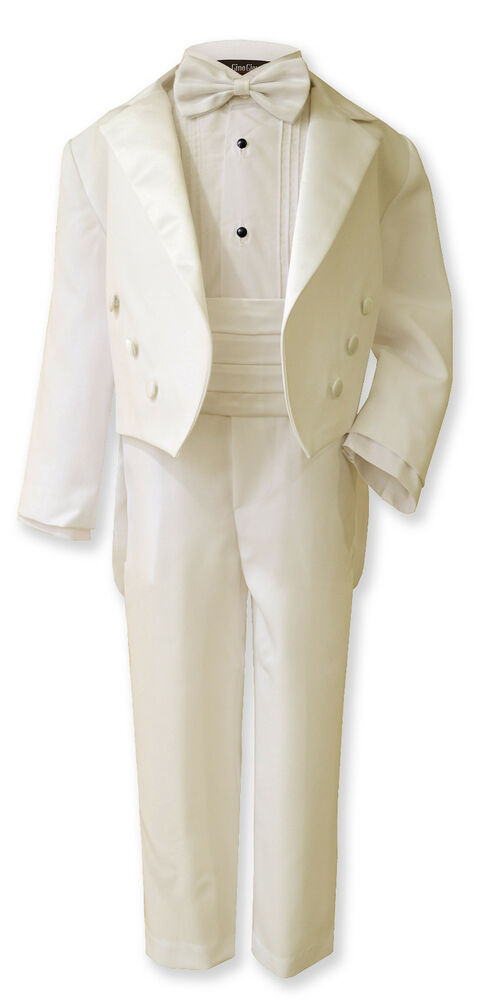 New Boy Ivory Tail Tuxedo Suit Size From Baby to Teen | eBay