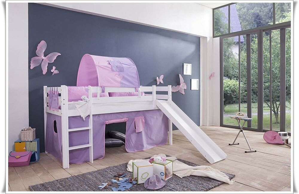 vorhang f r kinderbett spielbett hochbett etagenbett cinderella ebay. Black Bedroom Furniture Sets. Home Design Ideas