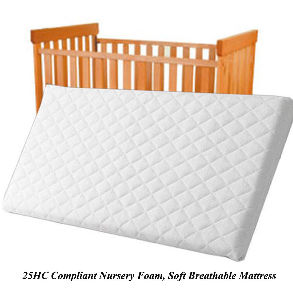Baby mattress cot crib pram swing baby bed mattress breathable quilted 89x43x4cm ebay Bed with mattress