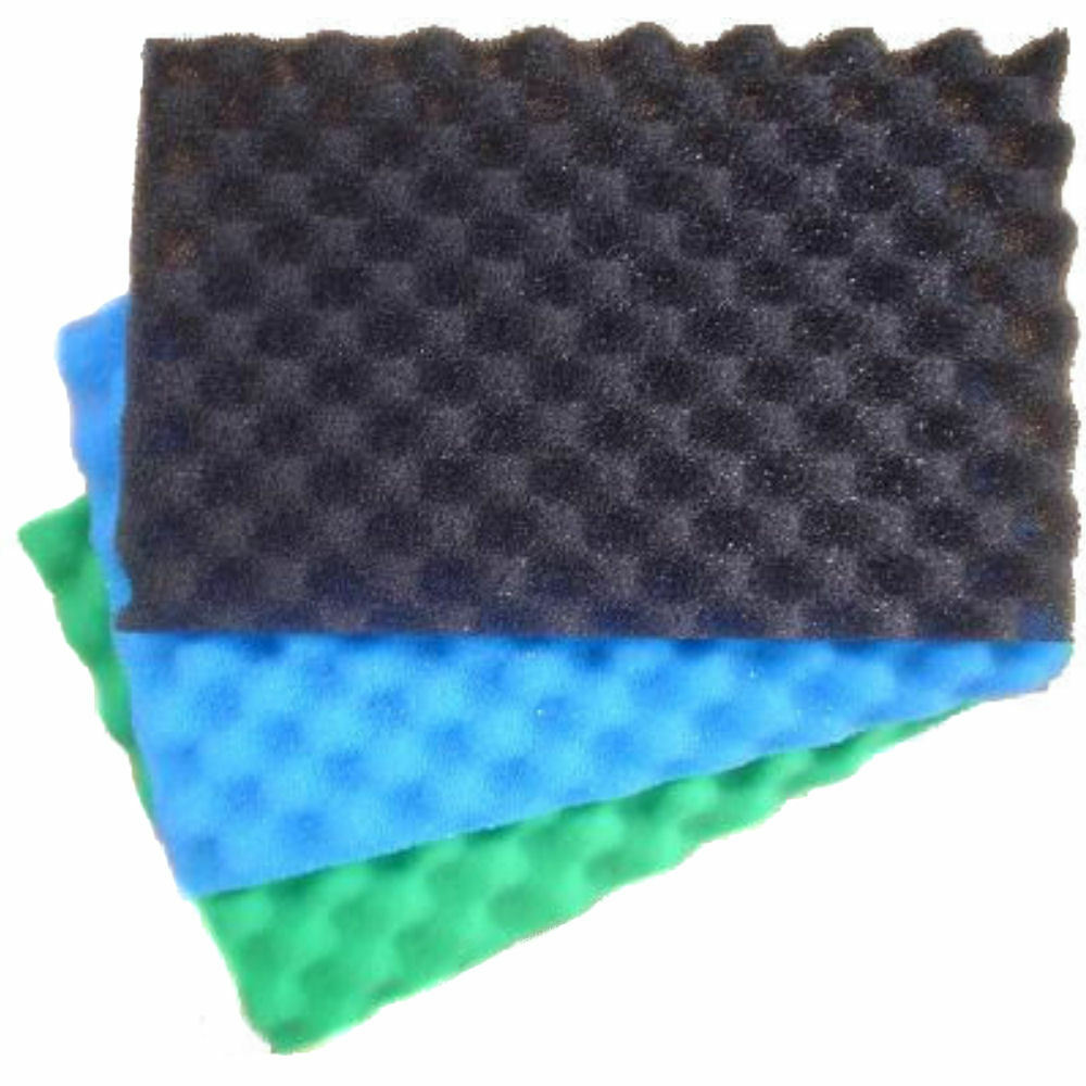Garden fish pond media filter foam sponge set 17 x 11 for Fish pond filtration