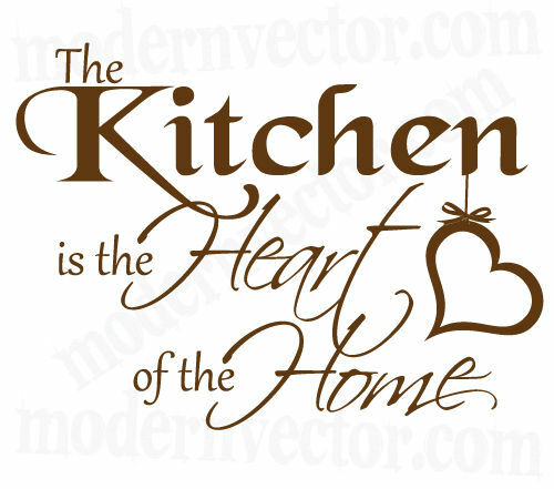 Quotes For The Kitchen: Kitchen Is The Heart Of The Home Vinyl Wall Quote Decal