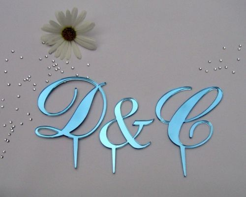Wedding Cake Toppers Letters Black : monogram wedding cake toppers letters eBay