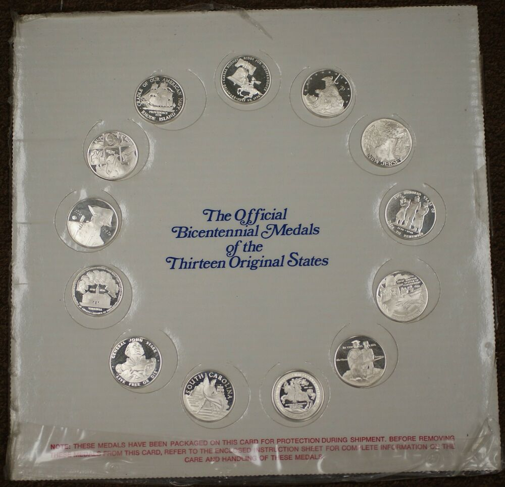 Official Bicentennial Sterling Silver Proof Medals 13