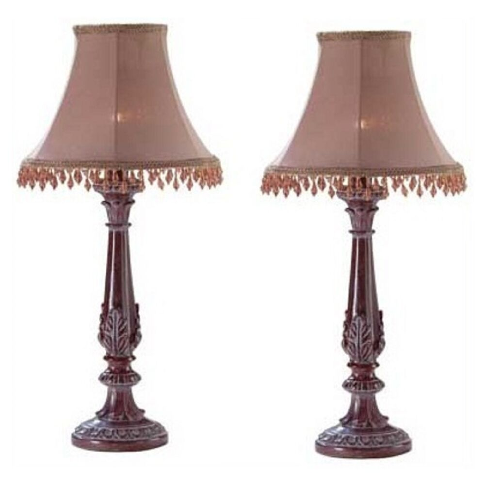 2 Bedazzled Lamps Casual Lovely Small Lamp Set Of Two Ebay