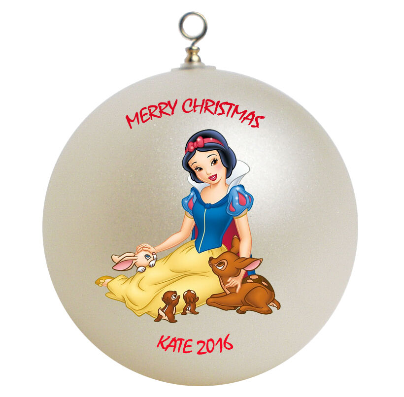 Baptism Ornament Personalized Christmas By Personalizedgallery: Personalized Princess Snow White Christmas Ornament