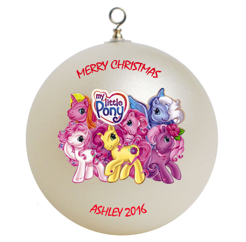 personalized christmas ornaments personalized my pony ornament gift ebay 11867