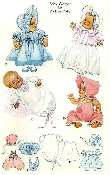 Vintage 20 Quot Dy Dee Baby Doll Clothes Pattern 713 Ebay
