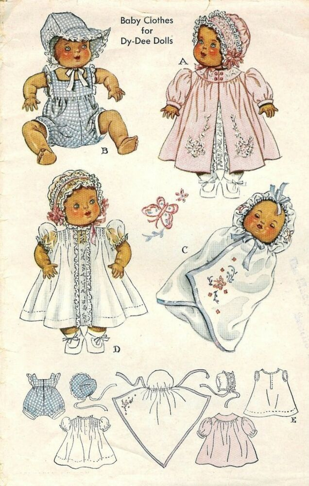 Vintage 15 Quot Dy Dee Baby Doll Clothes Pattern 632 Ebay
