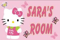 Personalised Hello Kitty Acrylic Door Plaque 2 Designs