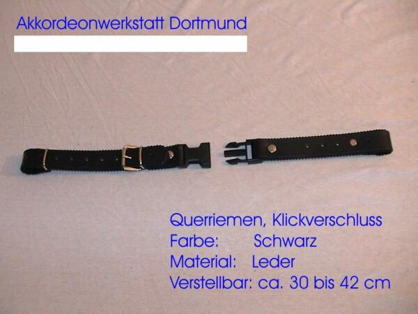Querriemen für Akkordeon,verstellbar ca.30 bis 42 cm, Leder,accordion back strap