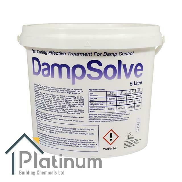 Dampsolve dpc damp proof proofing injection cream rising