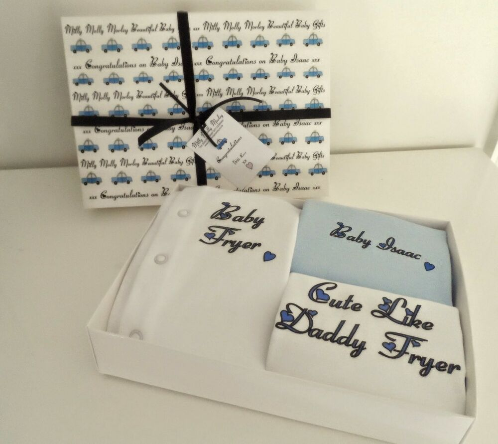 Cool Baby Boy Gifts Uk : Baby boys personalised babygrow new christening