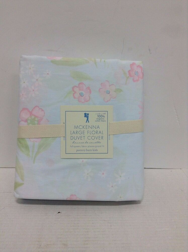 Pottery Barn Kids Mckenna Bed Floral Blooms Duvet Cover