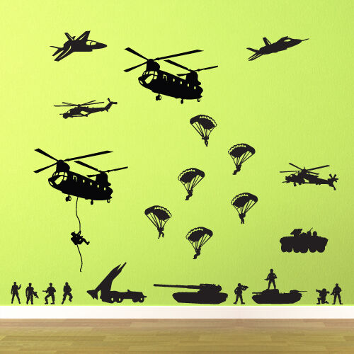 wall decal sticker vinyl decor art military soldiers army