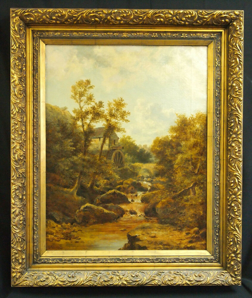Original 1800's R. Stubbs Oil on Canvas British Landscape ...