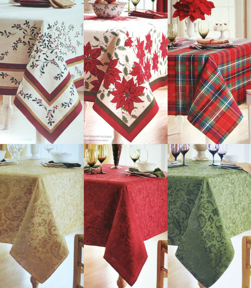 New BETTER HOMES Christmas Holiday Fabric TABLECLOTH Gold  : s l1000 from www.ebay.com size 871 x 1000 jpeg 218kB