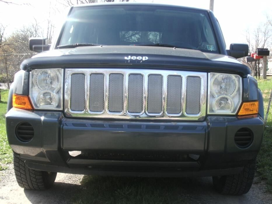 Chrome Mesh Grille Grill Kit For Jeep Commander 05 06 07 08 09 10 Ebay