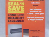 E  RUBBER EPDM STRIP LONG LIFE DRAUGHT EXCLUDER BROWN