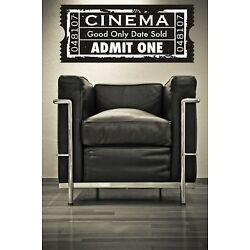 Movie Ticket Wall Decal, Cinema Wall Decal, Theater Wall Decor, Concert Ticket