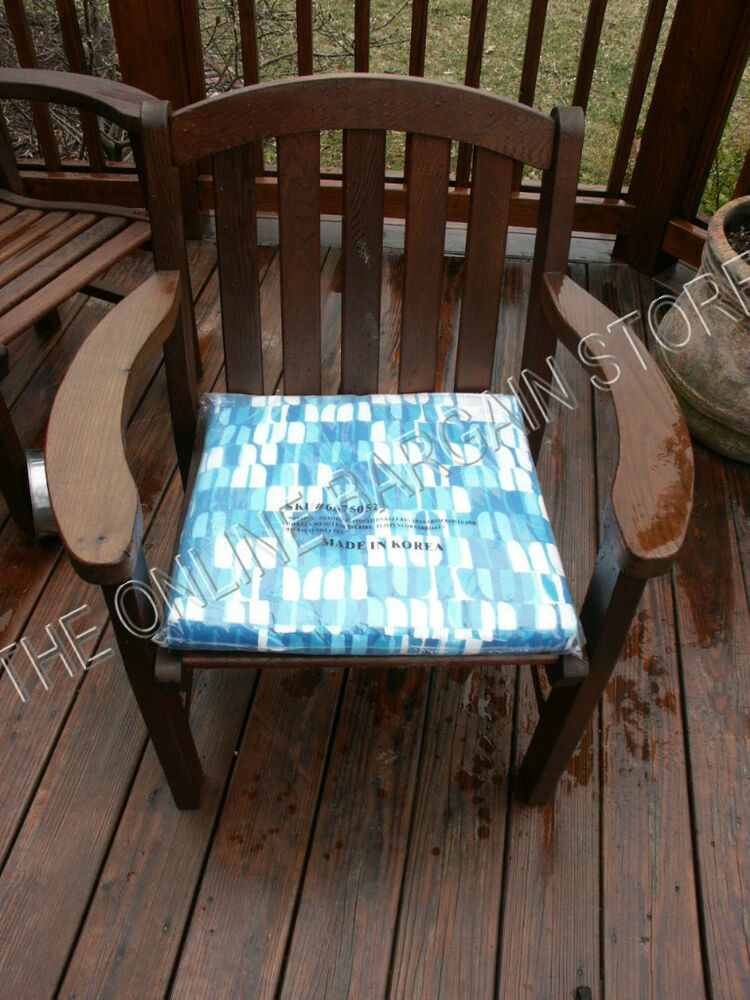 West Elm Pottery Barn Outdoor Patio Chair Cushion 22x18 Ebay