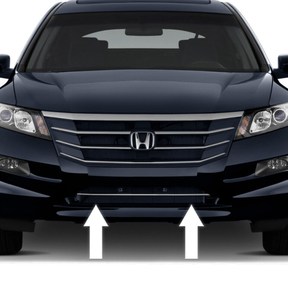 Millwork Wood Grille : Chrome front bumper grille trim molding for honda accord