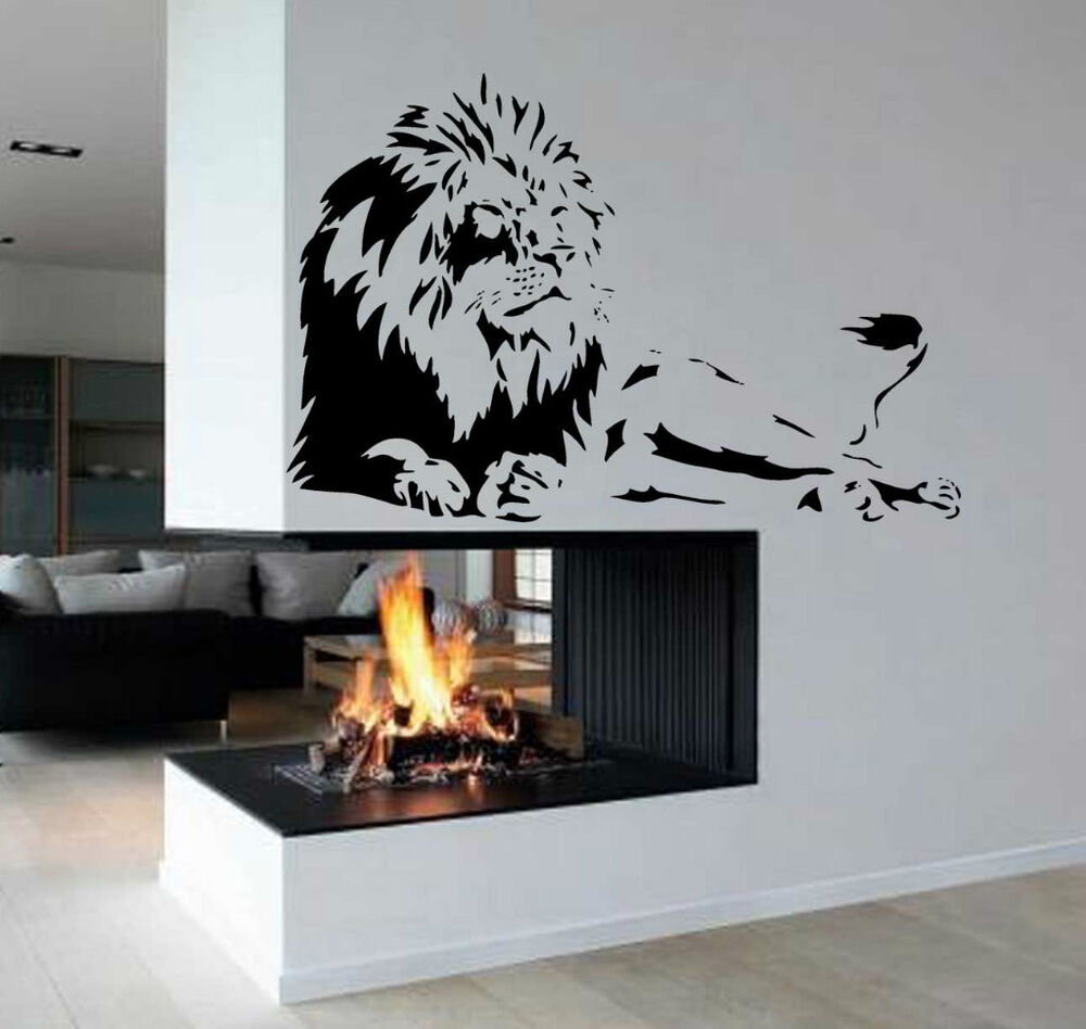 Wall Art Murals Vinyl Decals Stickers : Lion africa zoo animal removable kid room wall art decor
