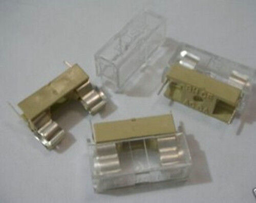 5x Panel Mount Pcb Fuse Holder Case W Cover 5x20mm Fc1w 812854397263