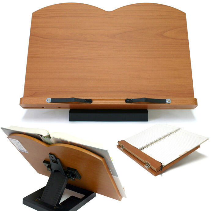Wooden Reading Table ~ Book stand portable wooden reading desk holder d ebay