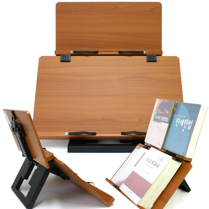 Wooden Reading Table ~ Book stand portable wooden reading desk holder f ebay