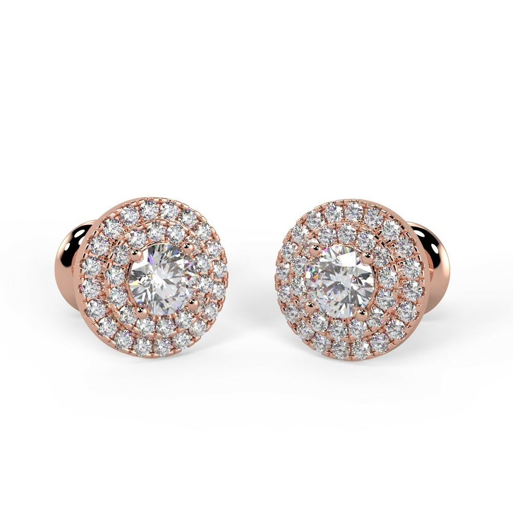 f vs carat diamond stud earrings crafted in 18k white. Black Bedroom Furniture Sets. Home Design Ideas