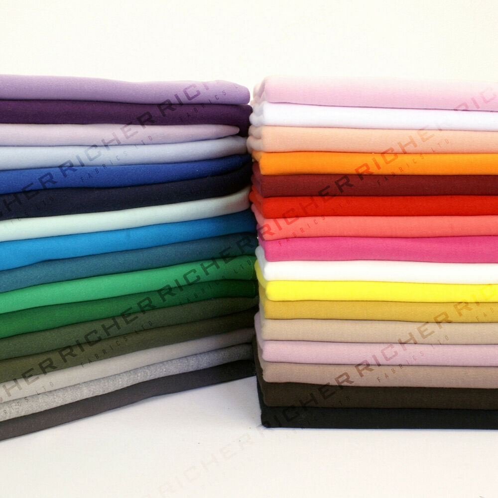 100 knitted jersey cotton interlock fabric material for Fabric material