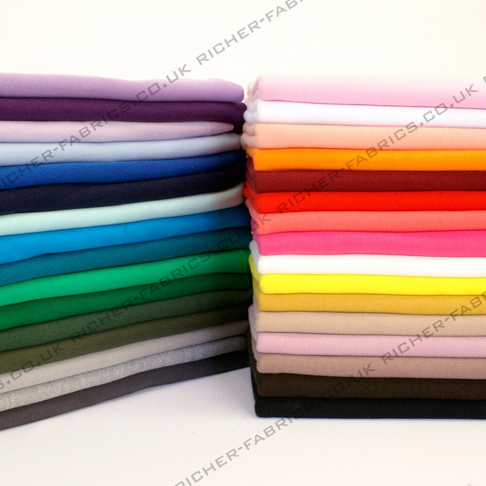 100 knitted jersey cotton interlock fabric material for Fabrics and materials